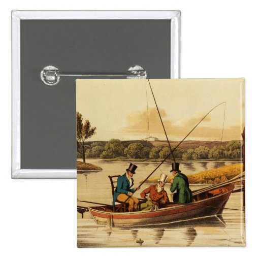Fishing in a Punt, aquatinted by I. Clark, pub. by Pin