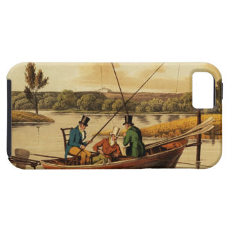 Fishing in a Punt, aquatinted by I. Clark, pub. by iPhone 5 Cover