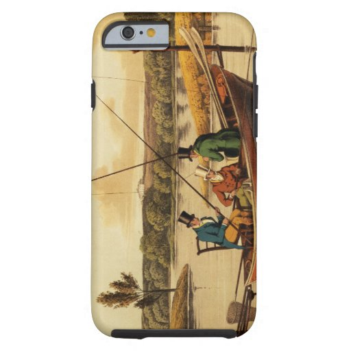 Fishing in a Punt, aquatinted by I. Clark, pub. by iPhone 6 Case