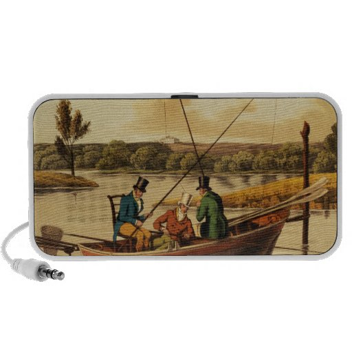 Fishing in a Punt, aquatinted by I. Clark, pub. by Speaker System