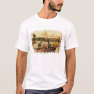 Fishing in a Punt, aquatinted by I. Clark, pub. by T-Shirt