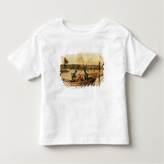 Fishing in a Punt, aquatinted by I. Clark, pub. by Tees