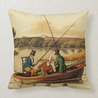 Fishing in a Punt, aquatinted by I. Clark, pub. by Throw Pillow