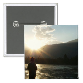 Fishing in a Sunbeam Pin