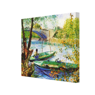 Fishing in Spring Vincent van Gogh Canvas Print