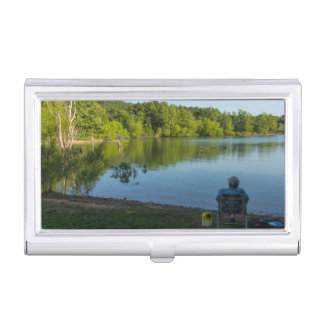 Fishing In The Morning Business Card Holder
