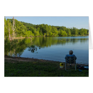 Fishing In The Morning Card