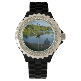 Fishing In The Morning Wrist Watch