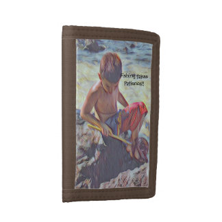 Fishing in the Tide Pools Tri-fold Wallets