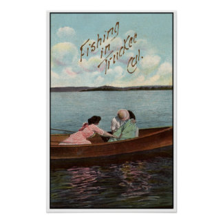 Fishing in Truckee 1910 Poster