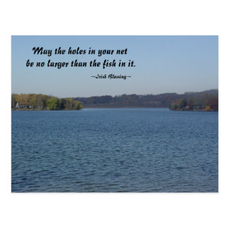 Fishing Irish Blessing Postcard