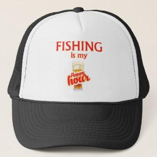 Fishing Is My Happy Hour Trucker Hat