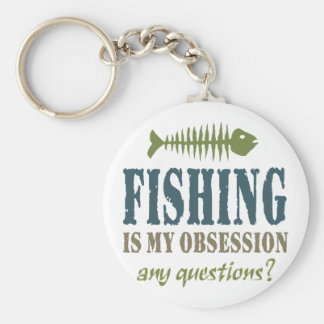 Fishing Is My Obsession Keychains