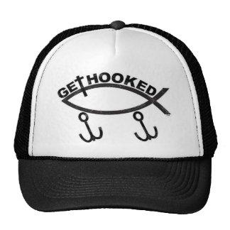 Fishing Jesus Fish Trucker Baseball Cap Trucker Hat