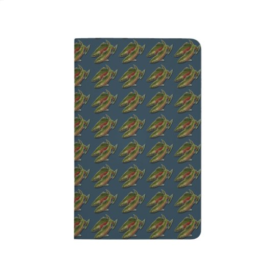 Fishing Journal Custom Coho Salmon Art Notebook