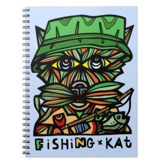 """""""Fishing Kat"""" Spiral Notebook"""