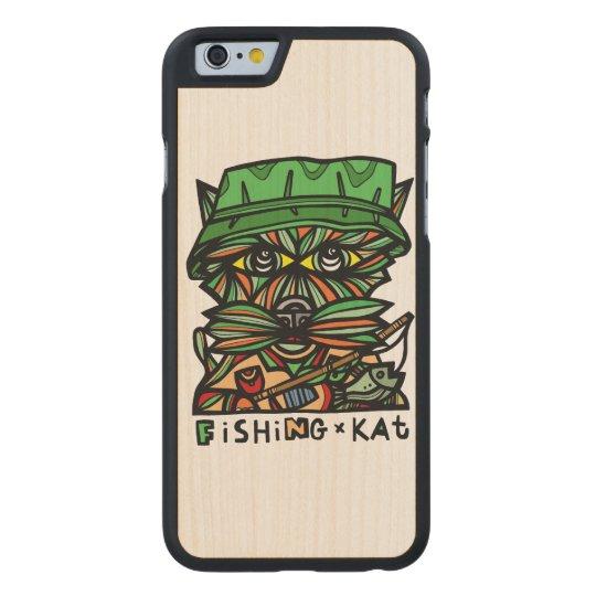 """""""Fishing Kat"""" Wood Phone Case"""