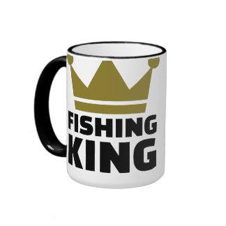 Fishing king crown ringer mug