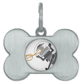 Fishing knot to connect line to the spool vector pet ID tag