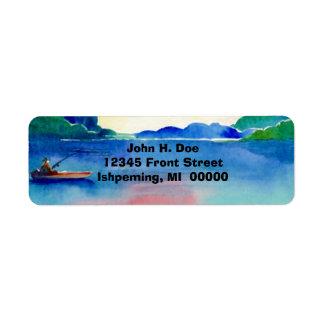 Fishing Lake watercolor Return Address Labels