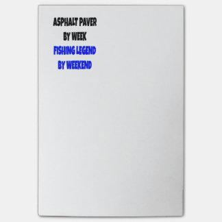Fishing Legend Asphalt Paver Post-it Notes