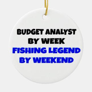 Fishing Legend Budget Analyst Ceramic Ornament