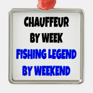 Fishing Legend Chauffeur Metal Ornament