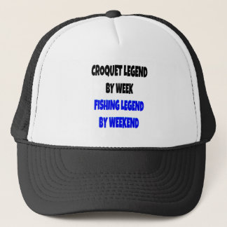 Fishing Legend Croquet Legend Trucker Hat