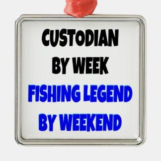 Fishing Legend Custodian Metal Ornament