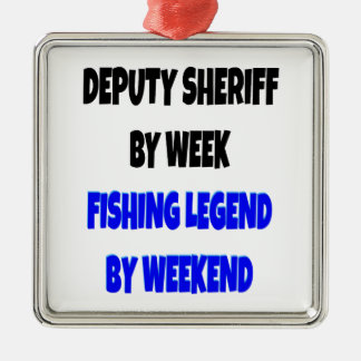 Fishing Legend Deputy Sheriff Metal Ornament