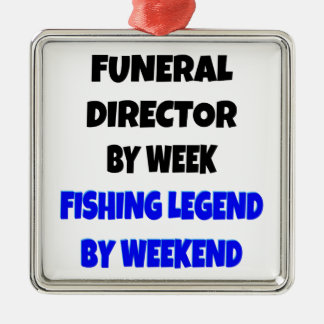 Fishing Legend Funeral Director Metal Ornament