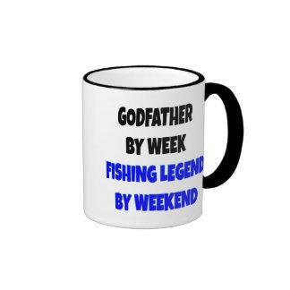 Fishing Legend Godfather Ringer Mug