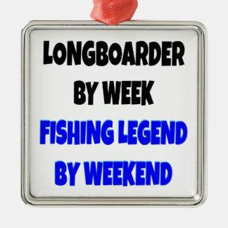 Fishing Legend Longboarder Metal Ornament