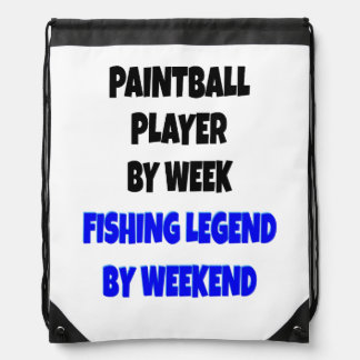 Fishing Legend Paintball Player Drawstring Bag