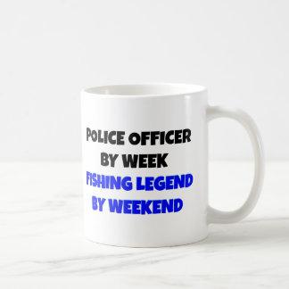 Fishing Legend Police Officer Coffee Mug