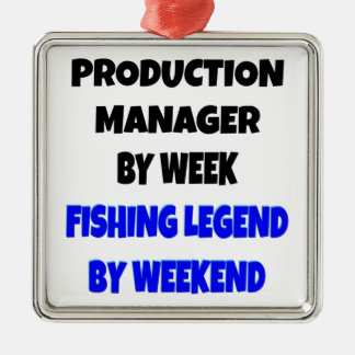 Fishing Legend Production Manager Metal Ornament