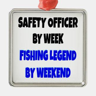 Fishing Legend Safety Officer Metal Ornament