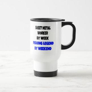 Fishing Legend Sheet Metal Worker Travel Mug