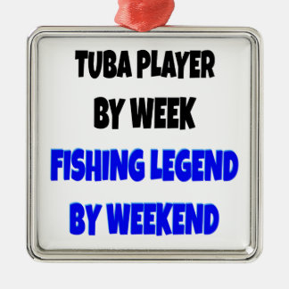 Fishing Legend Tuba Player Metal Ornament