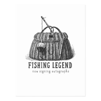 Fishing Legend Vintage Tackle Box Postcard