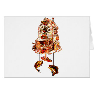 Fishing Lodge Cuckoo Clock Card