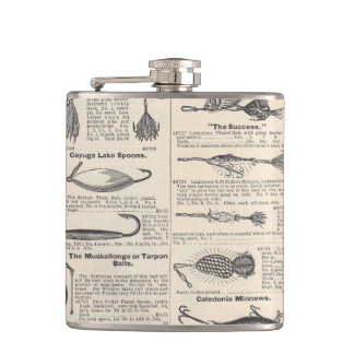 Fishing Lures Antique Advertising Hip Flask