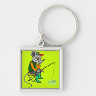 Fishing Mouse Keychain