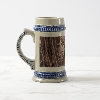 Fishing net 18 oz beer stein
