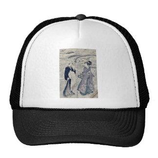 Fishing net by Utagawa, Toyokuni Ukiyoe Trucker Hats