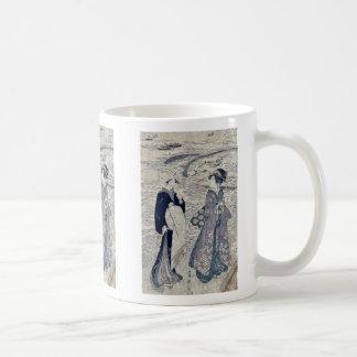 Fishing net by Utagawa, Toyokuni Ukiyoe Coffee Mug