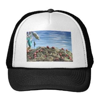 Fishing net mesh hat