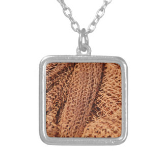Fishing Net Square Pendant Necklace