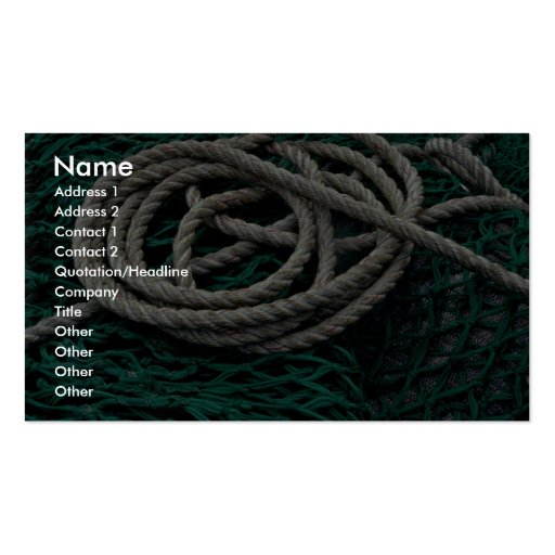 Fishing nets and rope business card