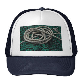 Fishing nets and rope hat